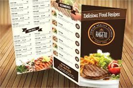 Catering Brochure Template Food Menu Download Free Margines Info