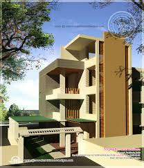 Luxury floor house elevation   floor plan   Kerala home    Modern floor house day view  See Floor Plans