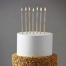 Amazoncom 24 Count Party Long Thin Cake Candles Metallic Birthday