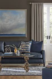 Leather Couch Living Room 17 Best Ideas About Blue Leather Sofa On Pinterest Blue Sofa