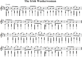 Traditional Irish Music Charts The Irish Washerwoman Tin Whistle Music