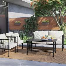 metal patio furniture. Modren Patio Fernhill Metal Patio Furniture Collection  Threshold Intended D
