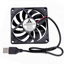 <b>2PCS</b> LOT Gdstime 8010S 80mm 80x80x10mm 8cm <b>DC</b> 5V USB ...
