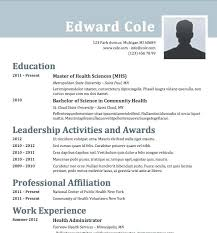 American Cv Template Style Resume Template Us Samples Format