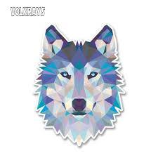 Volkrays <b>Creative</b> Car Sticker Cartoon <b>Abstract</b> Husky <b>Wolf</b> Vinyl for ...