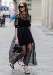 How to Wear Black in the <b>Summer</b>: Your Street Style Guide | <b>Sheer</b> ...