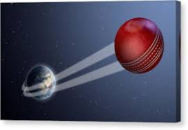 Image result for images of cricket ball in space