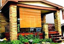 bamboo roll up shades outdoor bamboo shades for patio new porch blinds roll up custom outdoor