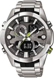 casio edifice for men analog digital stainless steel band watch casio edifice for men analog digital stainless steel band watch era 201d 1avdf