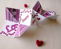valentine s day card personalized pop up valentine s day card handmade unique love card