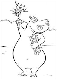 Small Picture Gloria the hippo coloring pages Hellokidscom