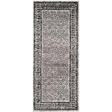 safavieh adirondack ivory silver 3 ft x 12 ft runner rug