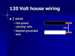 unit 2 electrical components continued eet 110 electronics survey i 4 120 volt house wiring 2 wires 2 wires hot power carrying wire neutral grounded wire 120 v
