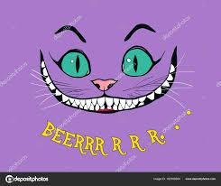 улыбка чеширского кота сказка алиса стране чудес каллиграфия слова