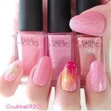 大好きなネイルホリックのピンク系を使った簡単可愛いピンク系夏
