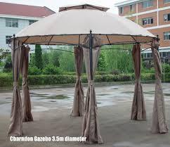 charndon round metal garden gazebo with