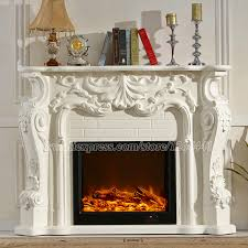european style electric fireplace carved wood fireplace mantel w160cm led artificial optical flame decoration room heater in fireplaces from home