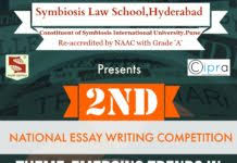 sls hyderabad essay competition archives lawctopus symbiosis law school hyderabad 2nd national essay writing competition 2017 prizes worth rs 9 500 submit by feb 26