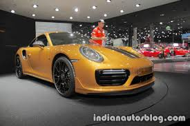 2018 porsche turbo s exclusive. interesting 2018 2018 porsche 911 turbo s exclusive series bumper at the iaa 2017 for porsche turbo s exclusive
