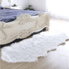 faux fur white rug house of luxury hand tufted faux fur white area rug reviews small
