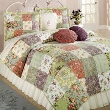 Bedding Handsome Blooming Prairie Cotton Patchwork Quilt Set ... & Handsome Blooming Prairie Cotton Patchwork Quilt Set Bedding Meaning P01 Adamdwight.com