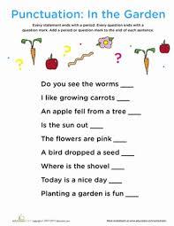 Punctuation In The Garden Summer School Punctuation Worksheets