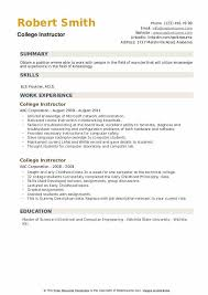 Free cv templates specially designed for students. College Instructor Resume Samples Qwikresume