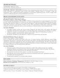 Mechanical Engineer Resume Template Mesmerizing Project Engineer Resume Sample Manager Engineering Template Free