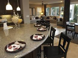 Rounded kitchen island granite counter top