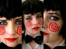 jigsaw s billy doll saw makeup tutorial billy s girfriend you