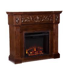 com calvert carved electric fireplace espresso kitchen dining