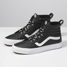 high top mens vans otw webbing sk8 hi reissue black leather