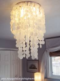 laminated rice paper faux capiz shell chandelier diy diy s within diy bedroom chandelier