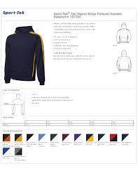 Sport Tek Tall Sleeve Stripe Pullover Hooded Sweatshirt Tst265