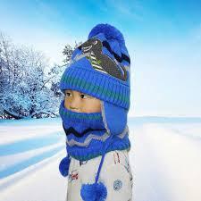 <b>SUOGRY</b> Hot Ski Children <b>2018 New</b> Brand Big Ball Scarf Knitted ...