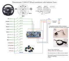 emulating thrustmaster t500 gt wheel electronics arduino my emulating t500 gt rim arduino schematics