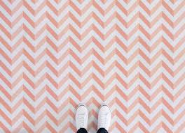bright chevron vinyl flooring