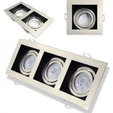 modish design square 1 2 or 3 way gu10 spotlight ceiling downlight satin black 4223 16 by ukew co uk