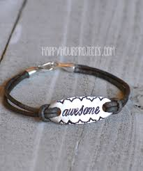 awesome diy stamped leather bracelet at happyhourprojects com