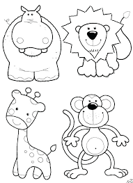 Animal Coloring Pages For Adults Coloring Book Farm Animals Easy