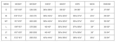 Engine Size Chart Re Mens Size Chart Ride Engine Blog
