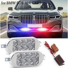 Us 14 67 30 Off 2x8 Led Strobe Light Police Flashing Warning Led Brake Light Lamp Dc 12v Car Truck Motorcycle Rear Brake Stop Led Lights On