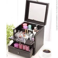 it is with leather like make box bijou bijou small make box cosmetics box mirror