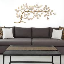 stratton home decor golden tree branch metal wall decor s01296 the home depot