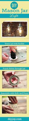 jar crafts home easy diy: diy mason jar light tutorial easy diy home decor ideas