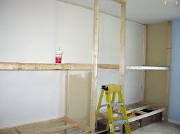 how to build bunk beds into the wall