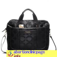 Black In Coach Monogram Large Busess Bags