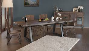 rustic dining room chairs. Brilliant Chairs Taos Rustic Dining Room Set With Live Edge  For Chairs E