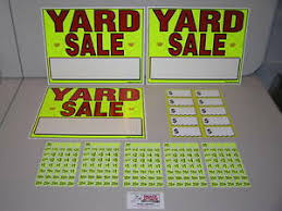 Free Yard Sale Signs Details About Yard Sale Signs Pre Priced Label Kit Free Ship