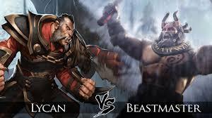 dota 2 beastmaster vs lycan one click battle youtube